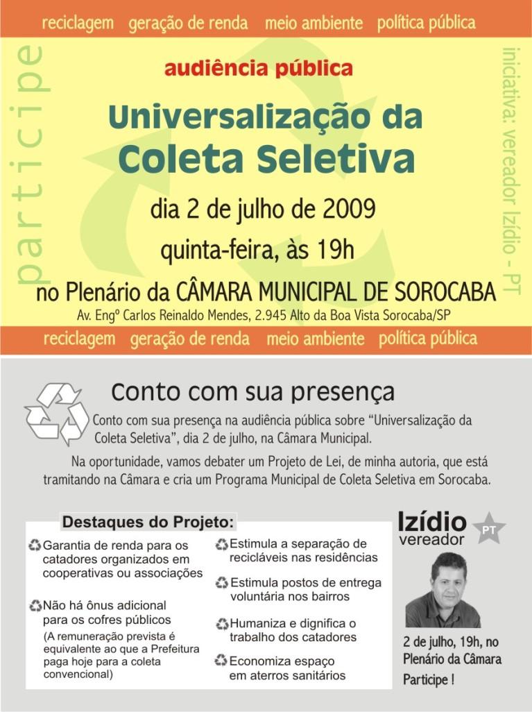 convite reciclagem