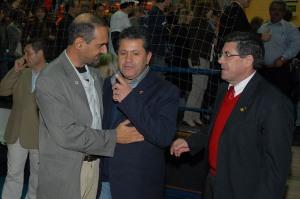 Beto Cury, vereador Izidio e o Deputado Hamilton Pereira